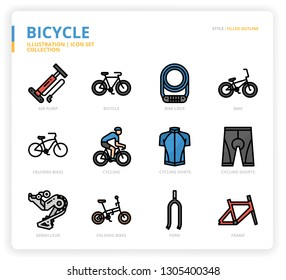 Bicycle icon for website, application, printing, document, poster design, etc.