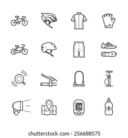Bicycle icons and Biking icons