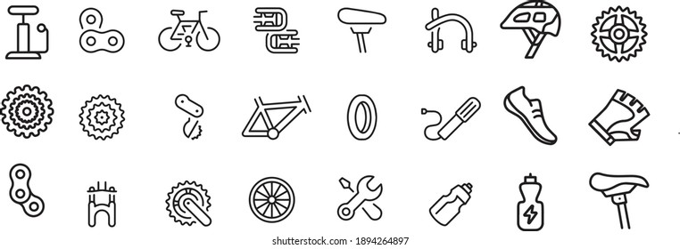 Bicycle Icons vector design black and withe