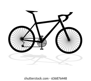 Bicycle - Illustration Single Line, Bicycle, Cycling, Black Color, Computer Icon