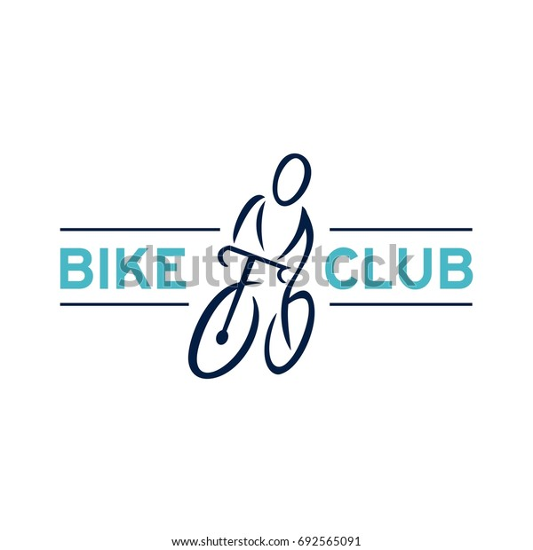 Bicycle label design and logo. Bike logo template
