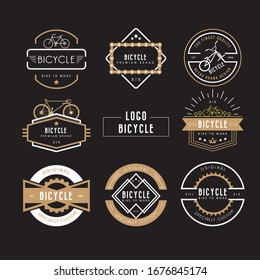 bicycle labels templates classic dark shapes Logo