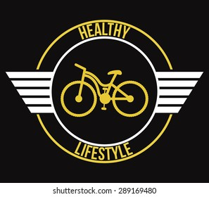 Bicycle lifestyle design over black background, vector illustration