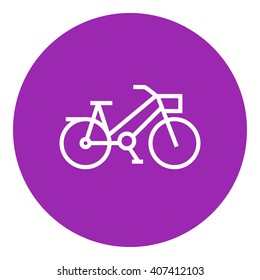 Bicycle line icon.