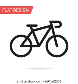 Bicycle line icon. Vector