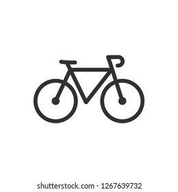 Bicycle. linear icon. Line with editable stroke