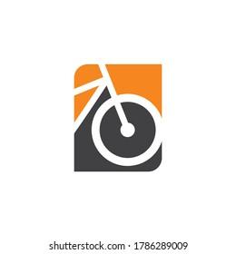 Bicycle logo concept icon vector. Simple design modern vector.