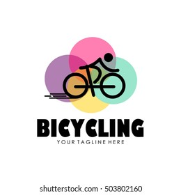 Bicycle logo, Cycling theme logo