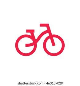 Bicycle logo design icon vector illustration. modern design trend