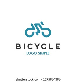 Bicycle logo design template, bike race logo design