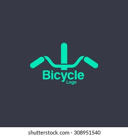 Bicycle logo template. Bike shop Corporate branding identity