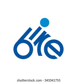 bicycle logo vector.