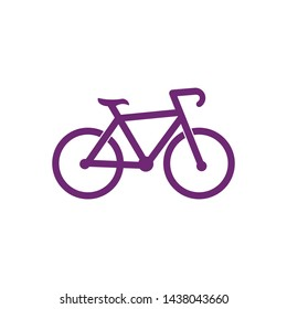 Bicycle logo vector template icon