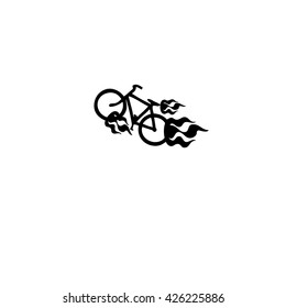 Bicycle on fire symbol