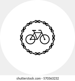 Bicycle parking simple icon
