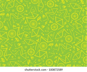 Bicycle parts digital background. Colors easy to change with layers.