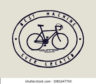 Bicycle print - best machine ever created - bike icon