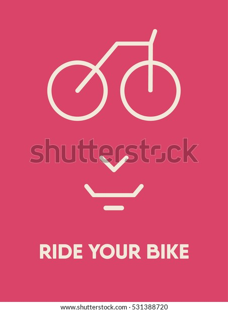 Bicycle Quotes Ride Your Bike Time Stock Vector (Royalty ...