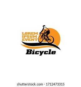 Bicycle Race Event Logo Design Template