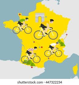 Bicycle race. Tour de France.