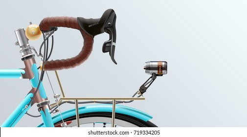 Bicycle. Realistic. Poster. Vector. Template. Ride. Cycle design.