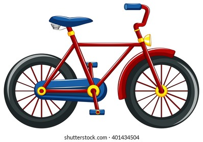 Bicycle with red frame illustration