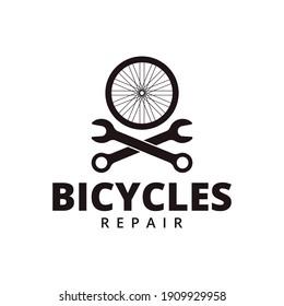 Bicycle repair service logo design