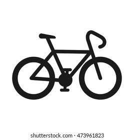 bicycle ride cyclism vehicle transport sport symbol vector illustration