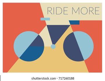 Bicycle Ride More Vector illustration