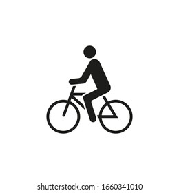 Bicycle rider icon. Cyclist icon. Vector. Isolated.