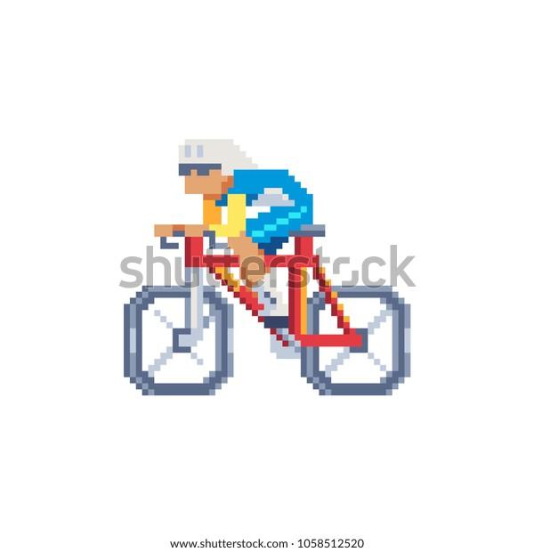 Image Vectorielle De Stock De Cycliste Cycliste De Type