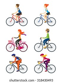 Bicycle Riders, Man, Woman, People, Lifestyle, Cycling, Riding, Relax, Sport