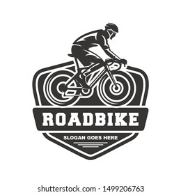 Bicycle or road bike logo design vector