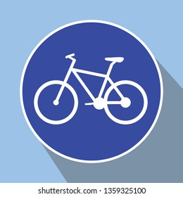 bicycle route sign, bike route