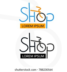 Motorcycle Repair Shop Logo Design Concept Images Stock Photos
