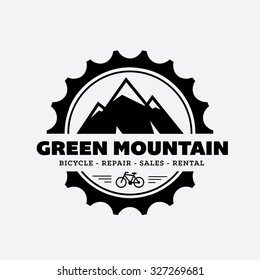 bicycle shop logo. Mountain Logo, Vector Logo Template