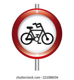 bicycle signal graphic design , vector illustration