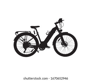 Bicycle silhouette design  for print commercial use