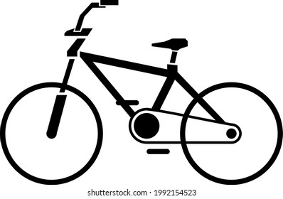 Bicycle silohuette vecto flat icon
