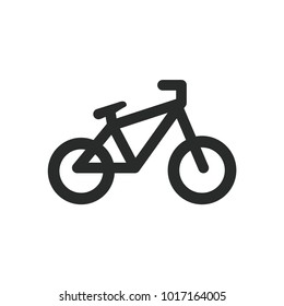 bicycle simple vector icon