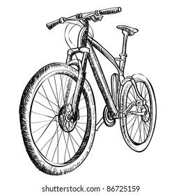 Bicycle sketch vector illustration