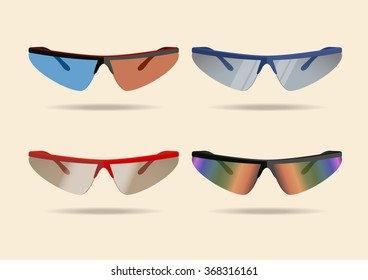 Bicycle sport sunglasses. Vector illustration