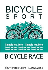Bicycle sport. Vector illustration.