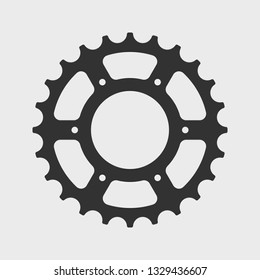 Bicycle sprocket icon. Vector illustration.