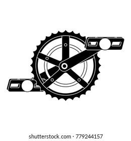 bicycle sprocket with pedal
