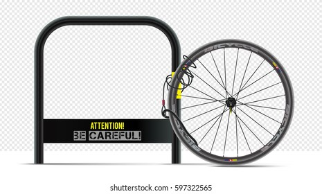 Bicycle theft. Security bicycle. Service bike. Safety poster design