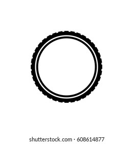 bicycle tire vector icon