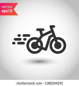 Bicycle vector flat sign. Bicycle vector icon. EPS 10