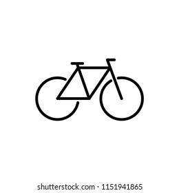 Bicycle vector icon.
