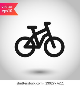 Bicycle vector icon. Bicycle vector flat sign. EPS 10